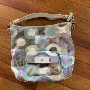Coach pastel C print purse